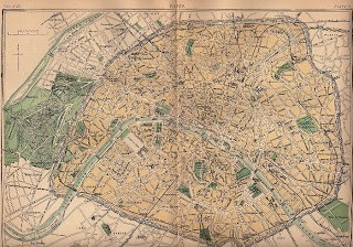Old Map of Paris – 1888