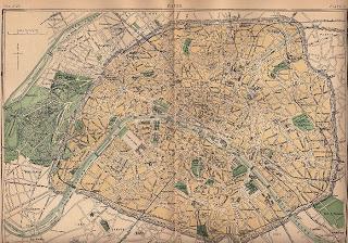 Old Map of Paris – 1888