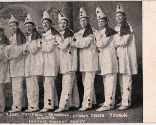 Old Photo – Pierrot Clown Costume Party