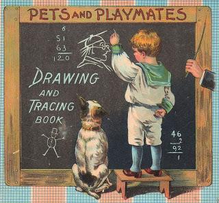 Cute Victorian School Boy W Dog The Graphics Fairy
