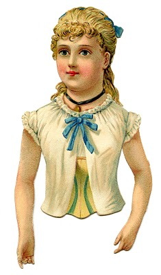 Vintage Clip Art – Pretty Victorian Scrap Girl
