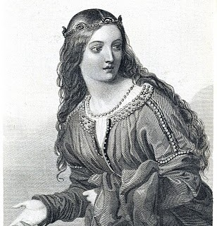 Antique Clip Art – Beautiful Shakesperean Woman