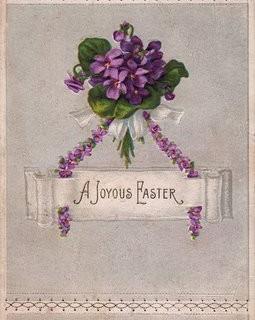 Vintage Postcard – Easter Violets
