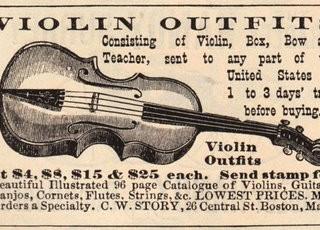 Vintage Clip Art – Violin