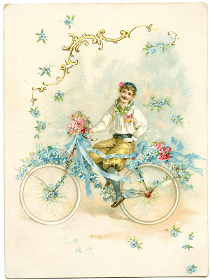 Antique Image – Dreamy Bicycle Man