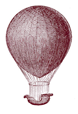 Steampunk Clip Art – Hot Air Balloons