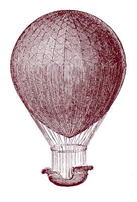 Steampunk Clip Art – Hot Air Balloons