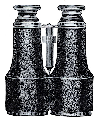Vintage Clip Art – Binoculars – Steampunk