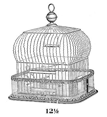 Vintage Clip Art – Fab Bird Cage