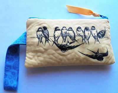 Brag Monday - Quilted Birds & Bees Bag