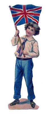 Vintage Image – Darling British Flag Boy