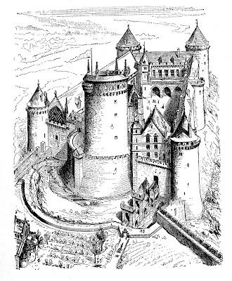 Vintage Clip Art – Castle