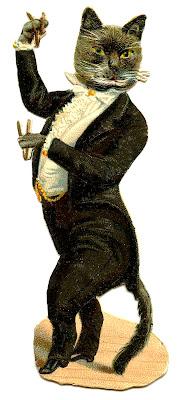 Antique Graphic – Cat in Tuxedo