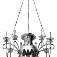 Vintage halloween clip art creepy crawly things the graphics fairy halloween crow image or raven antique images 3 chandeliers 1 spooky mozeypictures Choice Image