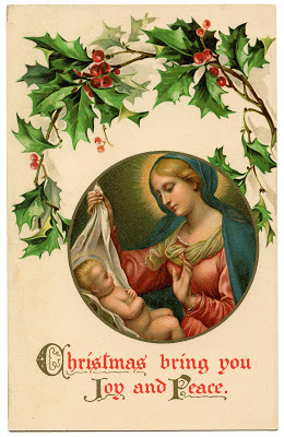 Old World Christmas Image – Baby Jesus and Mary