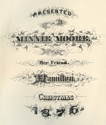 Antique Ephemera – Christmas 1876 Typography