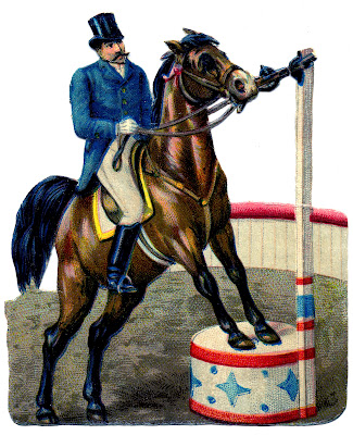 Vintage Circus Graphic – Ringmaster on Horse