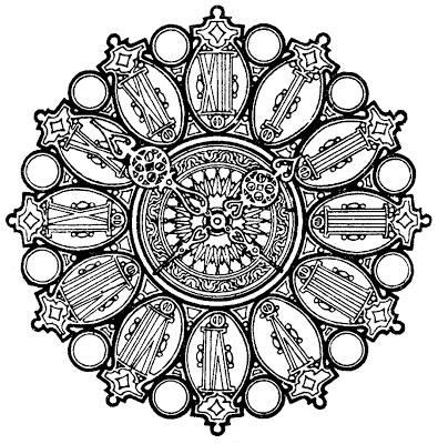 Vintage Clip Art – Ornate Clock Face