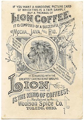 Old Advertising Clip Art – Coffee Ad