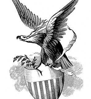 Vintage Patriotic Image – Eagle with Shield