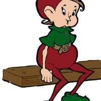 Elf on the Shelf - Vintage Christmas Image