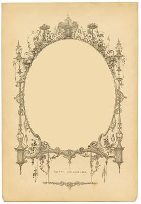 Vintage Ephemera Image - Amazing Frame