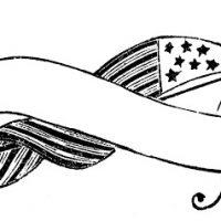 Vintage Patriotic Image - Flag Banner