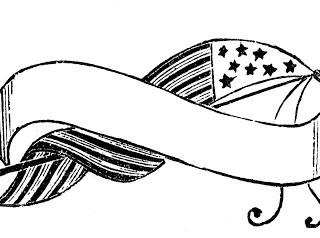 Vintage Patriotic Image – Flag Banner
