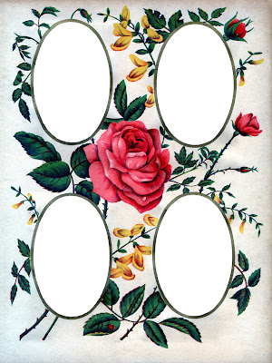 Victorian Album Page Printable Roses The Graphics Fairy