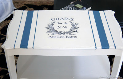 Brag Monday - French Grain Sack Table Painted