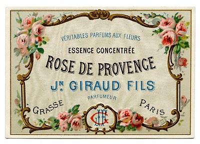 Vintage Clip Art – Pretty French Perfume Label – Frame