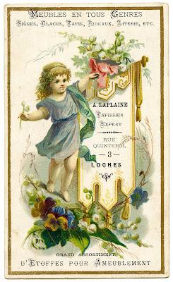 French Girl Frame Advertising Card