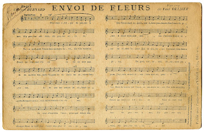 French Ephemera – Sheet Music Postcard