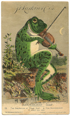 Vintage Image – Fabulous Frog with Violin