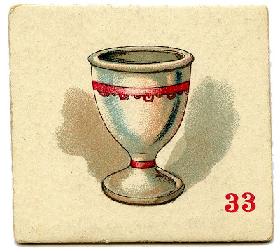 Vintage Game Cards – Egg Cup, Teapot & Water Glass