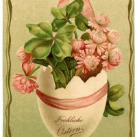 Clip Art of Vintage German Easter Egg