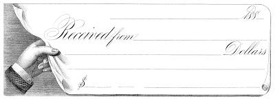 Vintage Ephemera – Hand holding Receipt – Steampunk