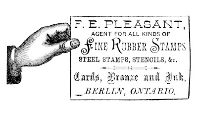 Steampunk Label – Hand with Sign