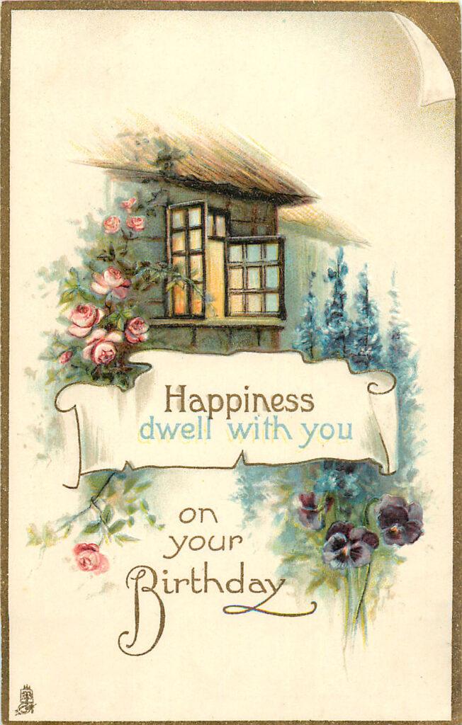 Happy Birthday Cottage Image