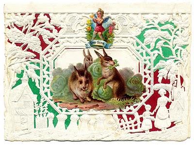 Antique Valentines – Bunnies, Birds and Butterflies