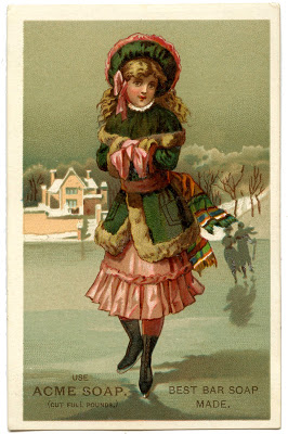 Victorian Graphic – Ice Skating Girl