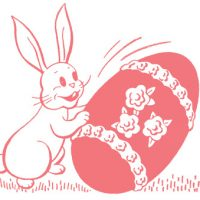 Retro Easter Images - Bunny with Candy Egg
