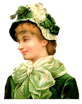 Vintage St Patrick's Day Graphic – Woman in Green