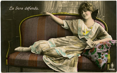 Old Photo – French Woman on Settee