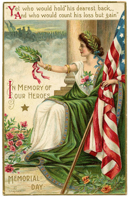 Vintage Memorial Day Image - Lady Liberty 2