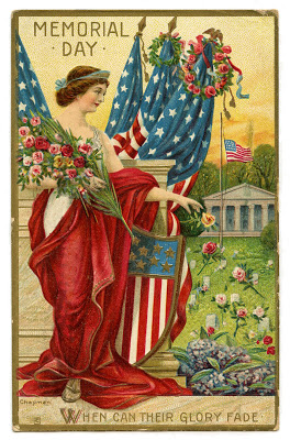 Vintage Memorial Day Image – Lady Liberty Postcard