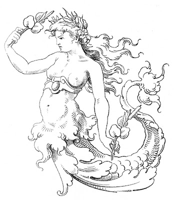 Old World Clip Art – Wonderful Mermaid