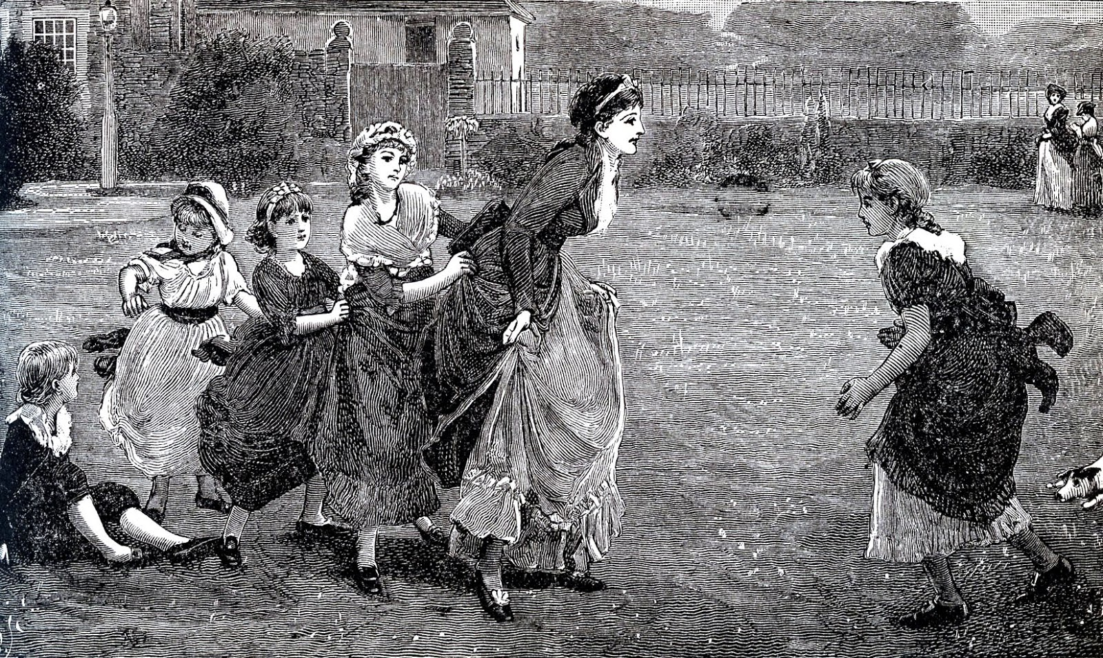 Antique Engraving Mother Playing With Children The Graphics Fairy