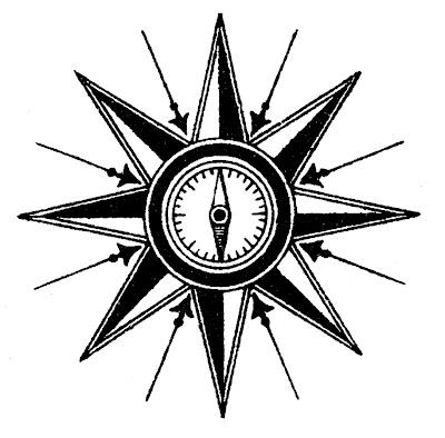 Vintage Steampunk Clip Art – Compass Rose
