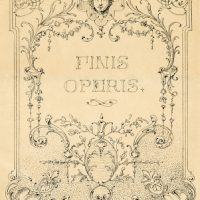 Vintage Illustration - Gorgeous Ornate European Label - Frame